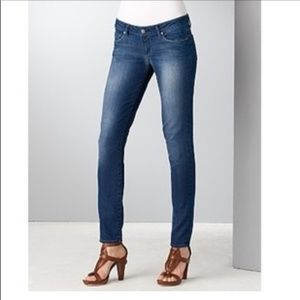 PAIGE | Blue Heights Low Rise Skinny Jeans